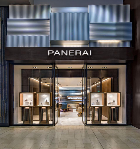 Facciata della nuova boutique Panerai al centro commerciale Yorkdale di Toronto.